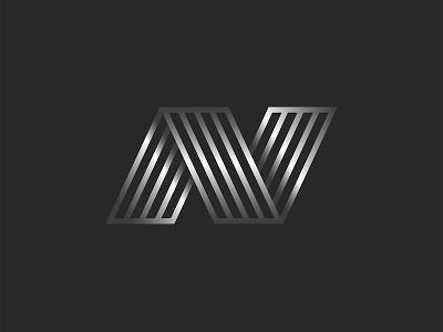 Letter N monogram design minimal vector typography emblem lettering thin lines 3d logo 3d lettering lineart metallic line art monogram design monogram logo logo design n monogram n letter n logo