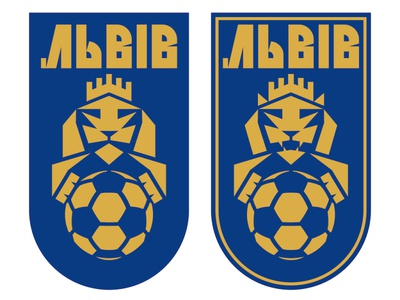 "My version of the new emblem of FC ""Lviv"". brand identity branding design vote animal logo football badge sports design football branding soccer emblem soccer logo emblem logo logo design branding emblem design rebranding lion logo football logo football club sports emblem sports logo"