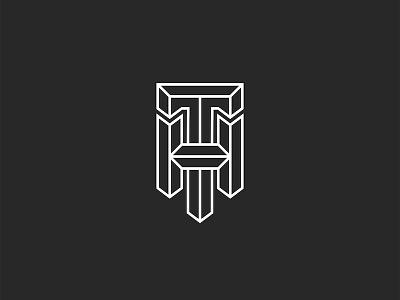 HT or TH initials design minimal monogram typography branding linear design logo design 3d letters 3d lettering initials monogram initials logo h letter t letter monogram design monogram letter mark monogram logo th logo ht logo
