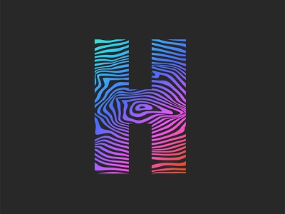 Letter H gradient pattern letter monogram emblem illustration bright color vector typography striped pattern striped lines logodesign pattern art gradient color gradient logo letter design logo design h logo letter h logo letter h