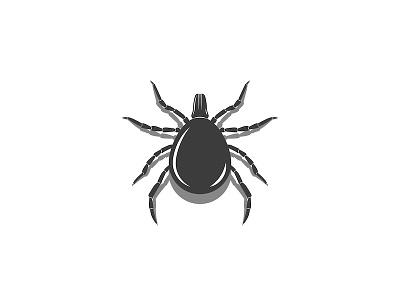 Tick insect illustration mite vector shadow 3d effect logo design icon design sign bloodsucker insect illustration animal illustration 3d silhouette vector illustration black and white illustration minimal 3d art animal art insect tick