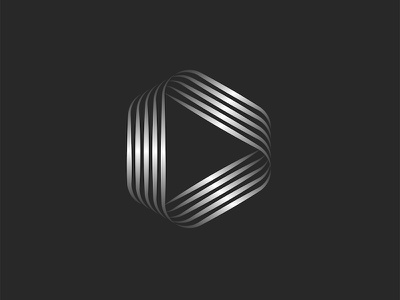 Play icon or triangle logo design minimal shape parallel geometric shape geometric art vector gradient logo metallic logo design linear design line art triangle triangle shape triangle logo play music play icon play logo play