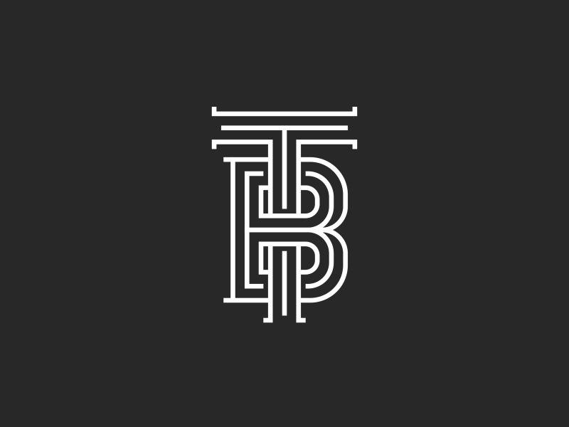 tb logo monogram by sergii syzonenko on dribbble