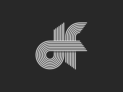 Df letters Logo lettering typography design parallel line linear monogram mark fd logo letters df