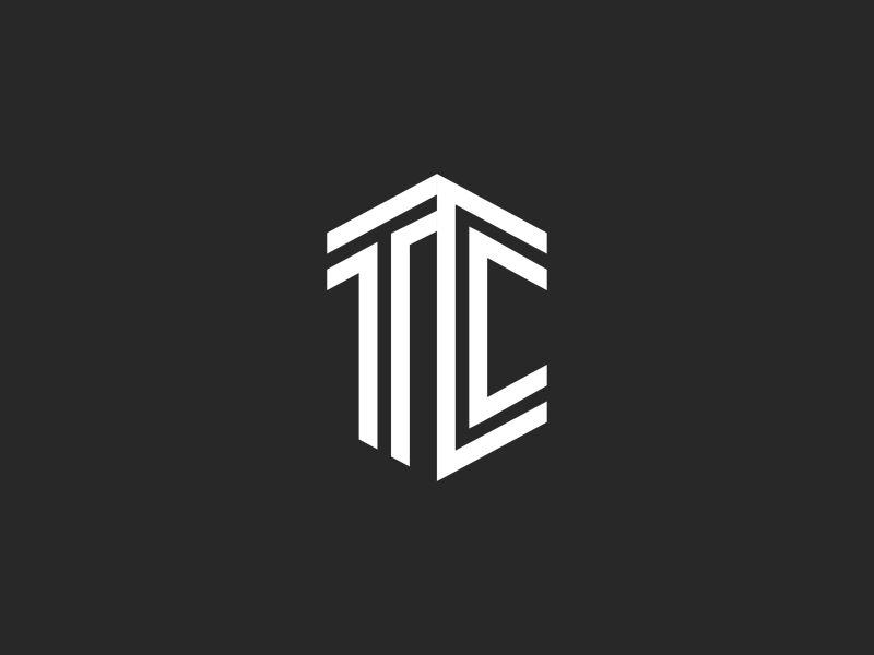 Tc Logo letters monogram logo combination wedding initial letters two t c ct monogram logo tc