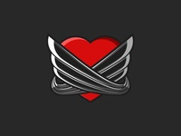 Heart with Wings t-shirt emblem