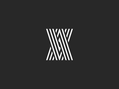 Monogram two letters VA Logo