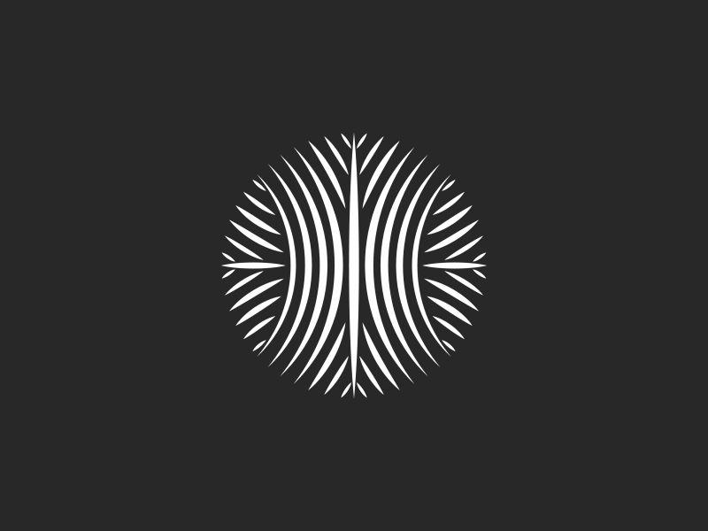 Circle Logo Pattern emblem minimal ornate t-shirt print whip black round symbol overlap weave lines pattern linear shape monogram emblem design logo circle