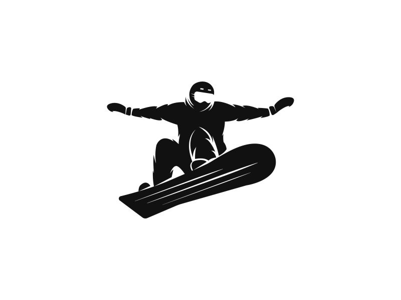 Snowboarder winter sports extreme sport freeride sportsman vector silhouette emblem logo snowboarding snowboard snowboarder