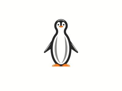 Character cute cartoon penguin kid art childish typography ocean life animal art character vector illustration design logo cute animal cartoon penguin