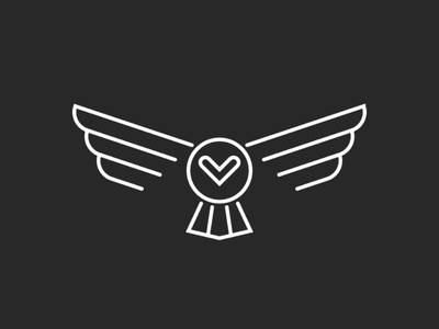 Owl bird logo linear design