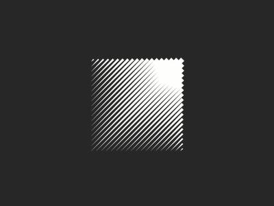 Square geometric shape logo design