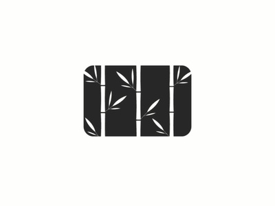 Bamboo logo rectangle shape