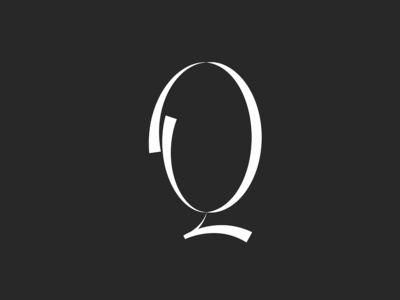 Letter Q calligraphy typography design element