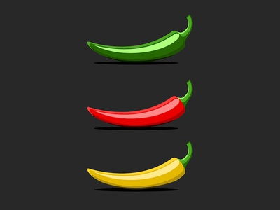 Peppers food illustration