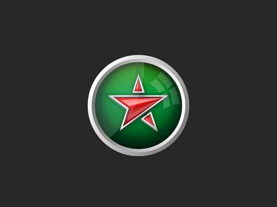 Red star icon design