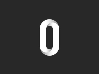 Zero number or letter O design