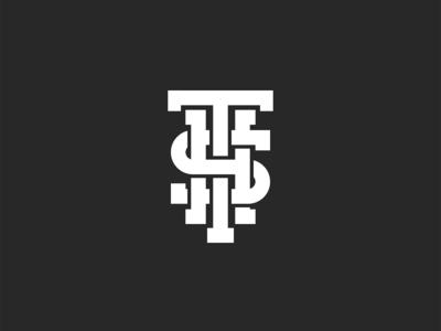 Letters T S H combination design initials