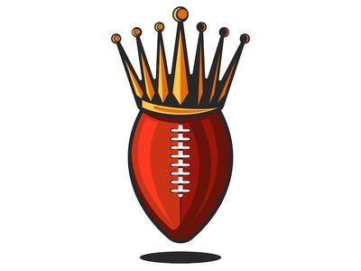 Rugby or american football emblem