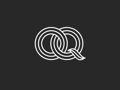 Initials OQ letters logo design