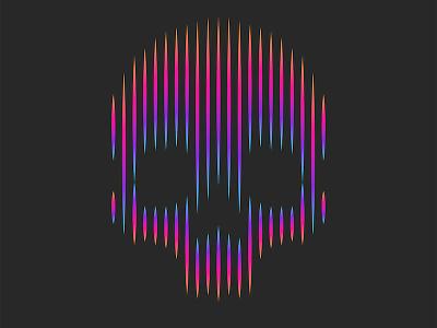 Skull print bright minimalist logo line art lineart logo emblem illustration t-shirt design design stripes neon neon light neon colors skull logo skull art skull