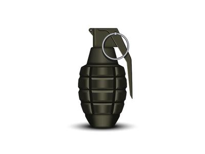 Realistic hand grenade 3d vector