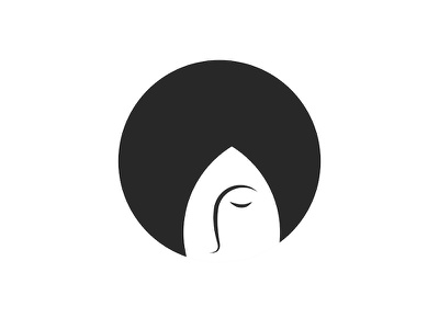 Girl logo outline head portrait portrait art logo design bob minimal girl illustration girl character hairdressing salon round logo shape minimalist logo hairstyle black  white illustration design emblem logo woman