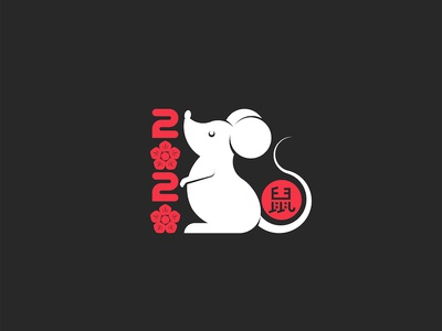 New Years is soon! White rat symbol of Chinese New Year.