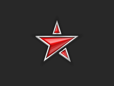 Red star shape icon.