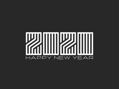 2020 New Year is soon! 2020 monogram.