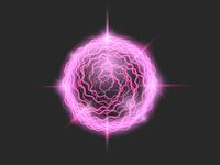 Fireball glowing purple circle magic element