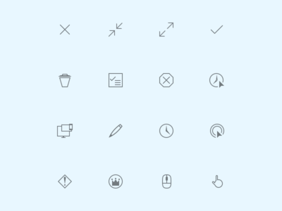 Heads Up Display Icons