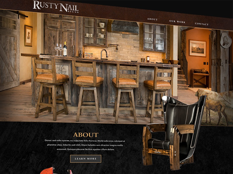 Rusty Nail Design Website By Ben Fjare Dribbble