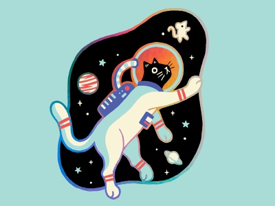 Space Cat sticker photoshop astrocat space cat illustration
