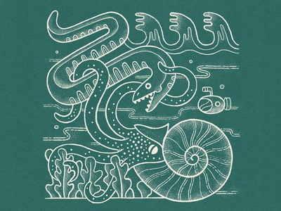 Nautilus nautical truegrittexturesupply texture design illustration aquatic submarine serpent nautilus