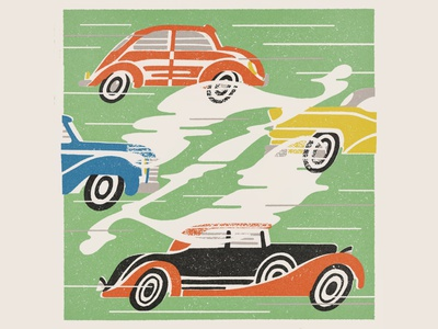 Z is for Zoom vintage matchbox z typography design lettering zoom illustration cars