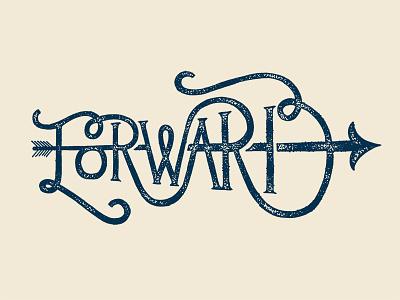 Forward stippling arrow forward typography lettering