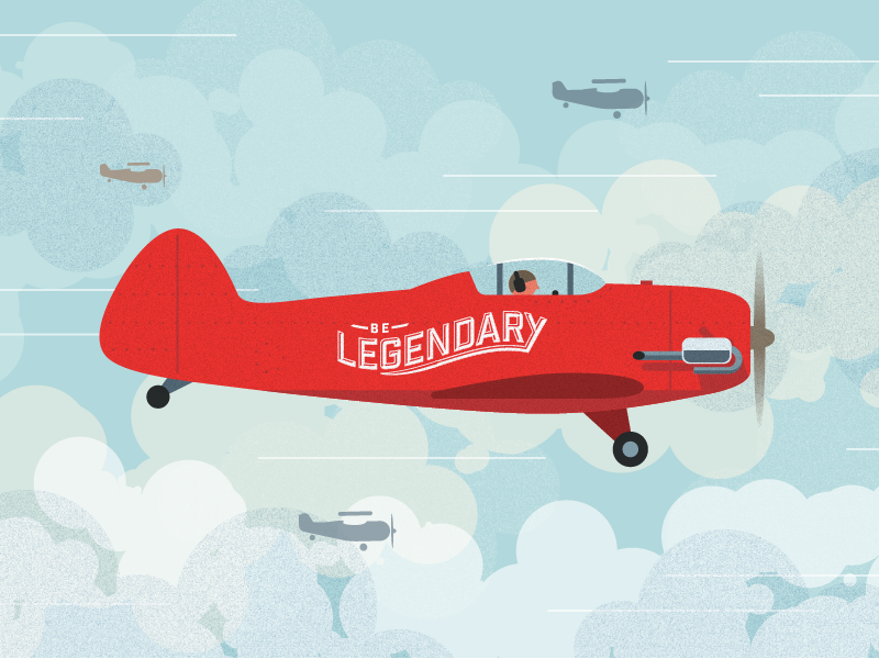 Airshow 2 airport clouds graphic vector airplane plane airshow illustration