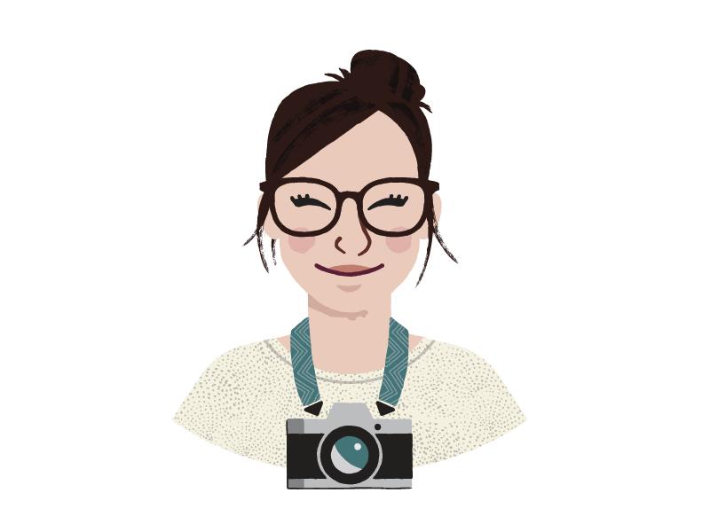 Portrait photographer camera vector illustration portrait