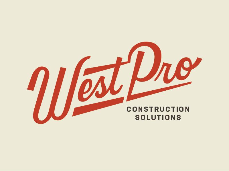 Westpro Logo logotype construction vintage