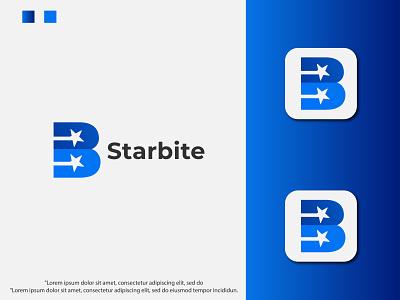 Modern B + star logo design