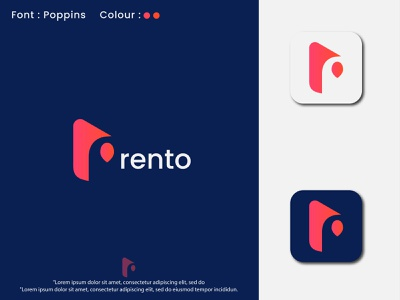 Modern r letter logo design