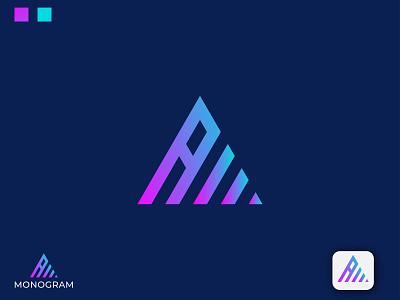 Monogram AM letter logo design
