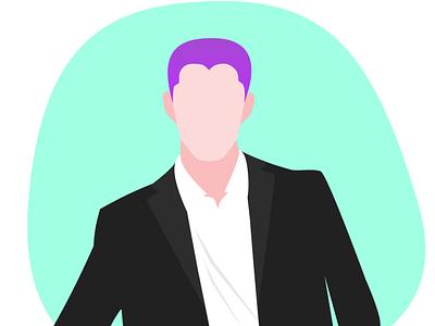 MIV man vector design vector art portrait illustration portrait vector illustration design