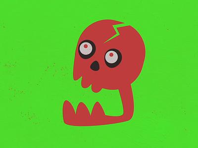Screaming Skull motion design motion graphics skull monsters monster character animation after effects animation comic design comics character design illustration