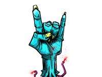 Gimme a hand. I wanna ROCK!
