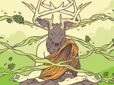 Vertigo Beer Label three rings brewery ipa meditation vertigo antlers deer label can beer