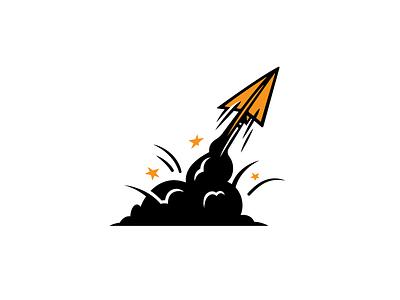 Blast Off plane jet idea launch rocket paper airplane off blast
