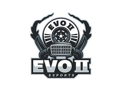 Evo II Logo video tire smoke mask motor cars evo gaming logo esports