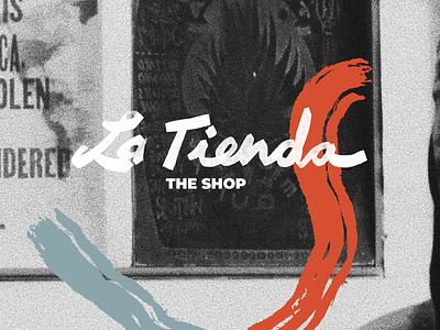 La Tienda Poster typography logo branding and identity branding designer diseño design illustration